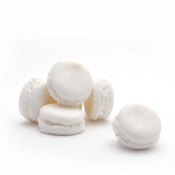 Macaron szappan 30g - Fehér pézsma illat, Savonnerie de Bormes