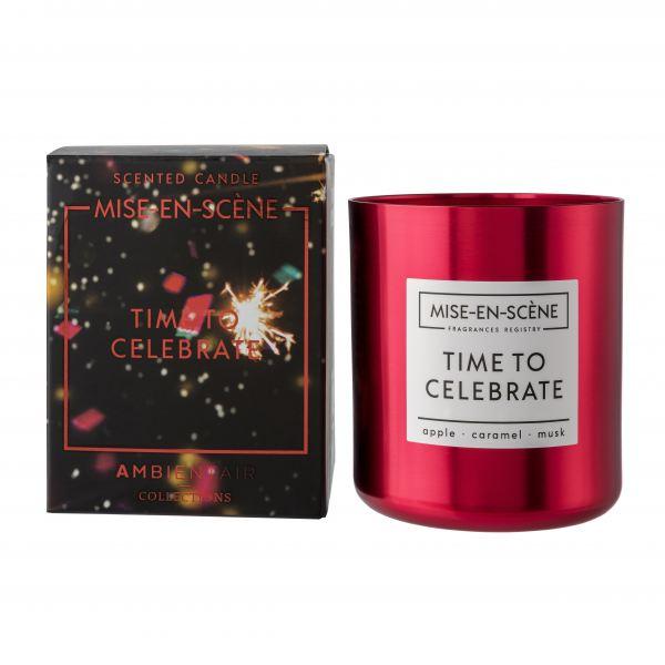 Ambientair Illatgyertya 50h Piros - Time to Celebrate