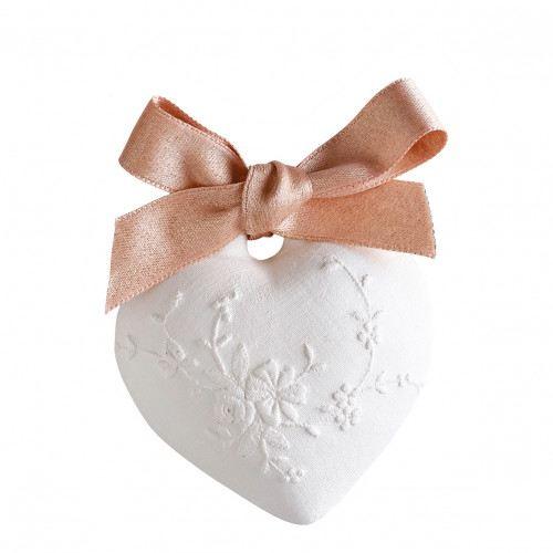 Mathilde M. Illatosító kerámia Hímzett szív - Rózsa elixír