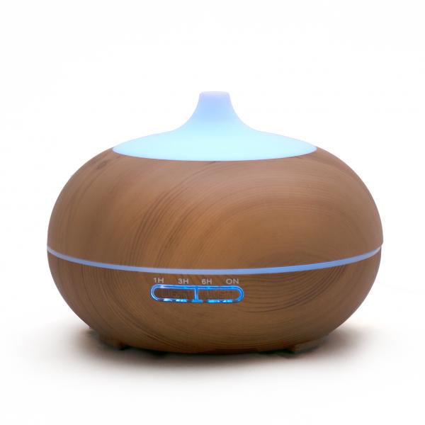 Fa mintázatú világosbarna ultrahangos aroma diffúzor - 550ml