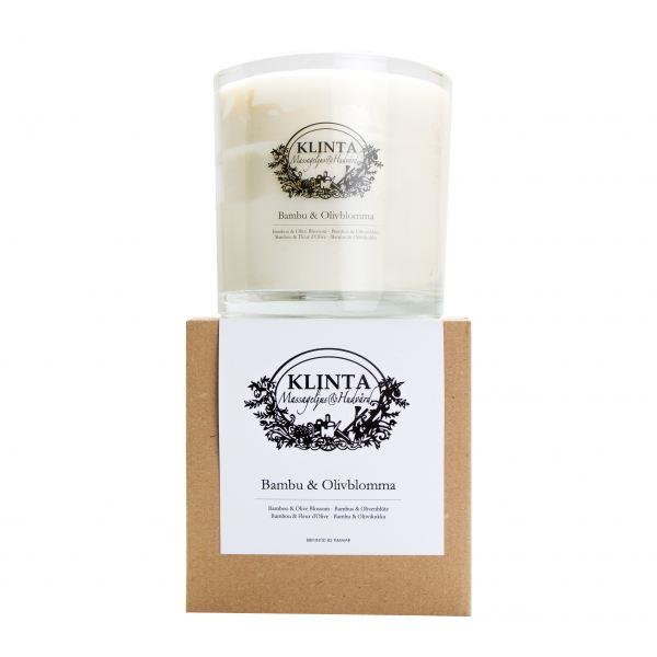KLINTA Masszázs illatgyertya 85h - Bambusz és olívavirág illat