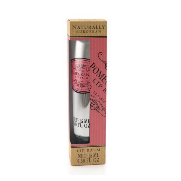 Ajakbalzsam Naturally European 15ml - Gránátalma illat, The Somerset Toiletry