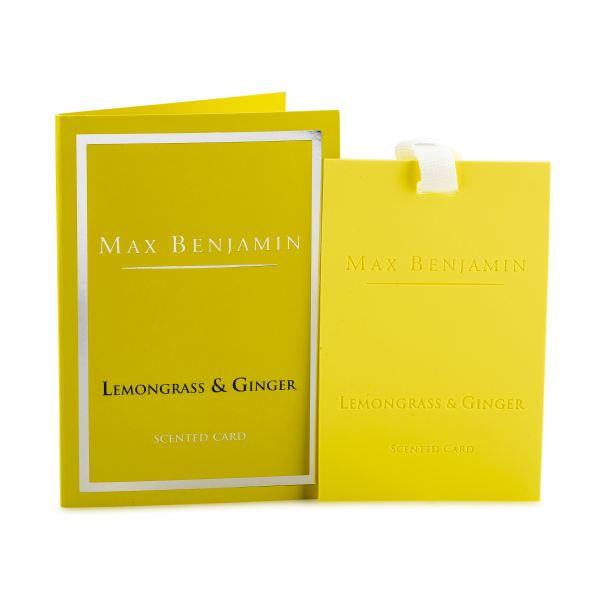 Max Benjamin Illatosító kártya - Citromfű és gyömbér